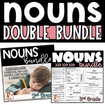 Nouns Activities and Interactive Notebook DOUBLE Bundle