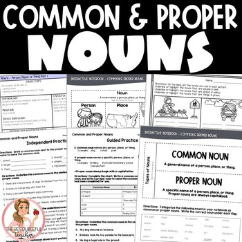 Nouns Activities and Interactive Notebook Pages BUNDLE