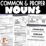 Common and Proper Nouns Activities with Interactive Notebook Pages