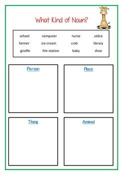 Nouns Activity Bundle Pack