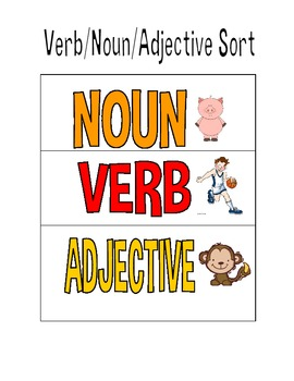 Nouns, Adjective, Verb SORT