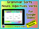 Nouns, Adjectives, and Verbs- Grammar Sorts for Google Drive