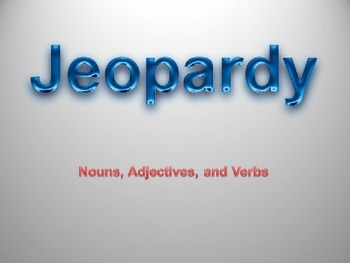 Nouns, Adjectives, and Verbs Jeopardy Review