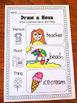 Nouns, Adjectives & Verbs Printable Worksheet BUNDLE - Kindergarten First Second