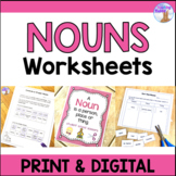 Nouns Worksheets (Distance Learning)