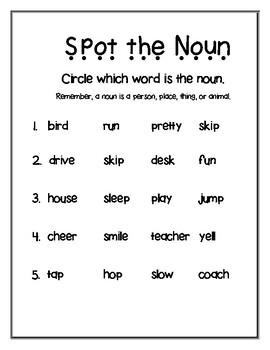 Nouns All Around - 4 activities