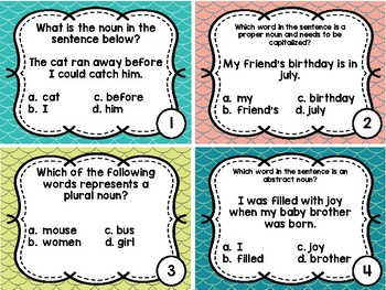 Nouns (All) Test Prep Task Cards