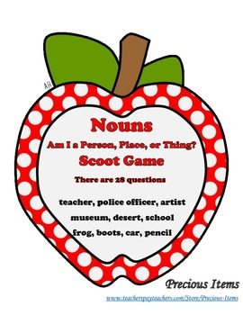 Nouns - Am I a Person, Place, or Thing?  Scoot Game