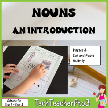 An Introduction Nouns activity, worksheet and poster set $1 DEAL