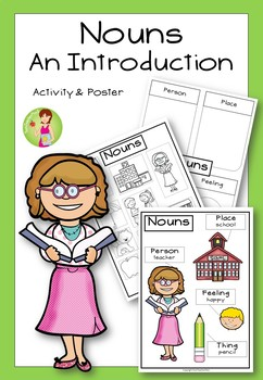 Grammar Pack Nouns An Introduction Activity and Poster