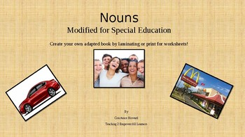 Nouns: An adapted book for students with ASD