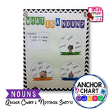 Nouns Anchor Chart Parts and Interactive Notebook