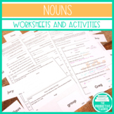 Nouns: Worksheets, Assessments, and Sorting Cards