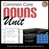 Nouns Unit - Parts of Speech Unit (Noun PowerPoint, handouts, review game)