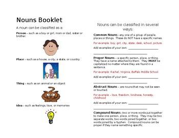 Nouns Booklet