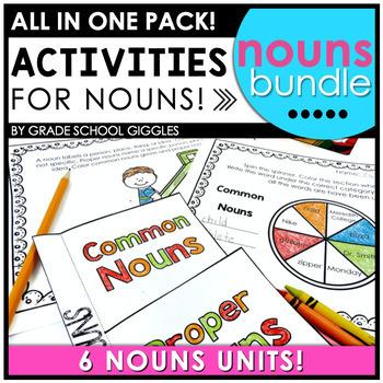 Noun Activities and Nouns Worksheets