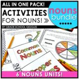 Noun Activities and Nouns Worksheets Bundle
