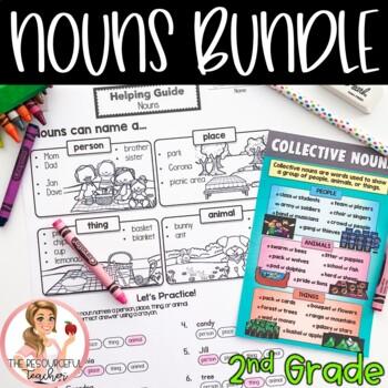 Nouns Activities Bundle for 2nd Grade