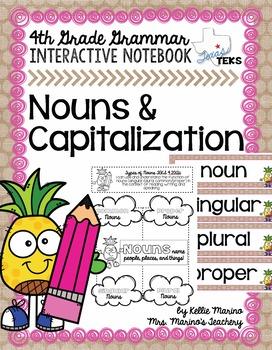 Nouns & Capitalization Grammar Interactive Notebook