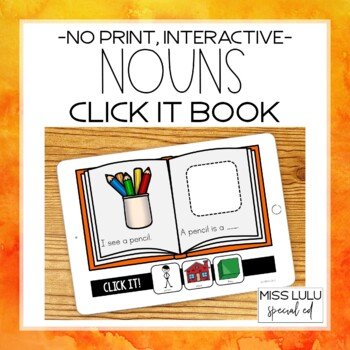 Nouns Click It Book {No Print}