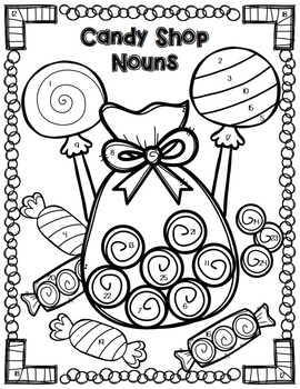 Nouns Review and Grammar Practice Color By Code! {Elementary}