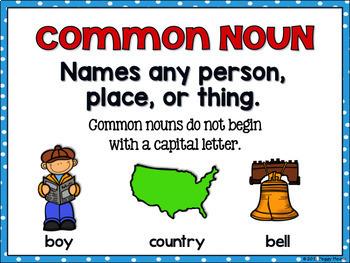 Common Nouns - PowerPoint, Posters, Printables, Games {Bundle}