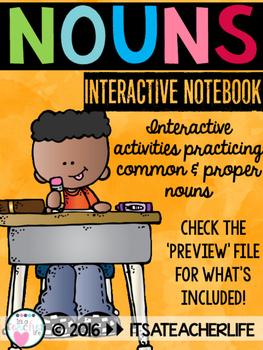 Nouns   Common & Proper Nouns Interactive Notebook