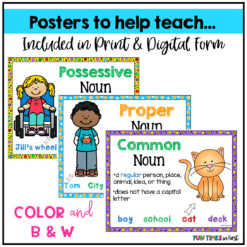 Nouns~ Common, Proper, & Possessive {Language Centers}
