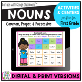 Common, Proper, and Possessive Nouns:  Posters, Centers, Worksheets and more!