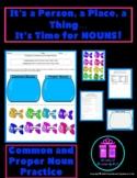 Nouns - Common and Proper Nouns Quiz/Practice Sheet