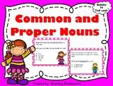 Nouns - Common and Proper Nouns Task Cards - Grammar