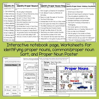 Nouns- Common and Proper Nouns Unit