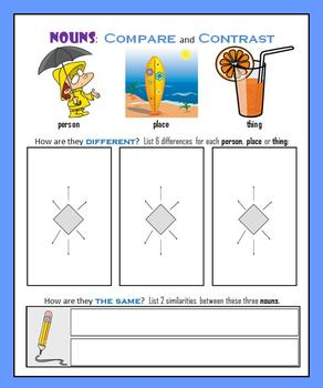 Nouns:  Compare and Contrast