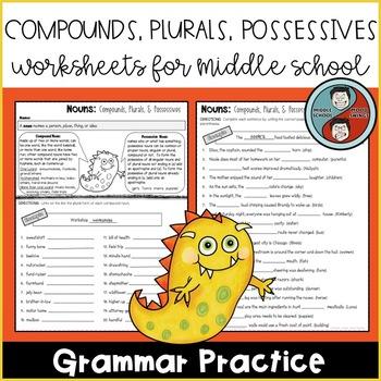 Nouns: Compounds, Plurals, & Possessives Worksheets