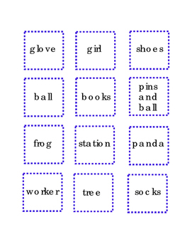 Nouns Cut and Paste Critical Thinking Literacy Reading Comprehension English 2pg