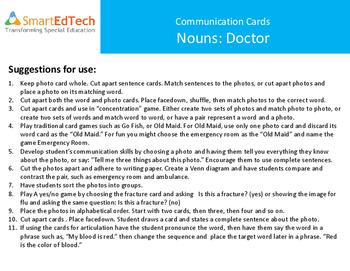 Nouns Doctors - SmartEdTech Communication Cards