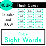 Nouns - Dolce Sight Words - 95 Flash Cards