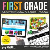 Nouns Escape Room Printable & Digital Activity 1st Grade