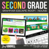Nouns Escape Room Printable & Digital Activity 2nd Grade