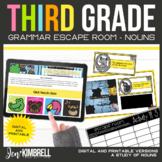 Nouns Escape Room Printable & Digital Activity 3rd Grade