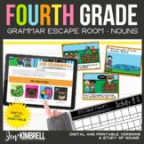 Nouns Escape Room Printable & Digital Activity 4th Grade