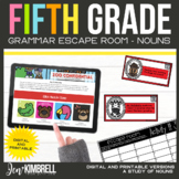 Nouns Escape Room Printable & Digital Activity 5th Grade