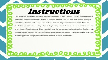 Noun games and activities