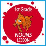 Sorting Nouns (COMPLETE Lesson, Nouns Activities, COLOR Poster, Nouns Worksheet)