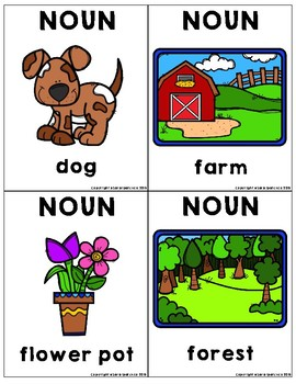Nouns Flashcards: People, Places, Things