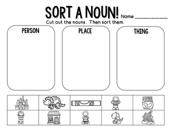 Nouns: Flipchart & Worksheets
