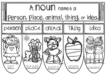Nouns Foldables-Interactive Notebook