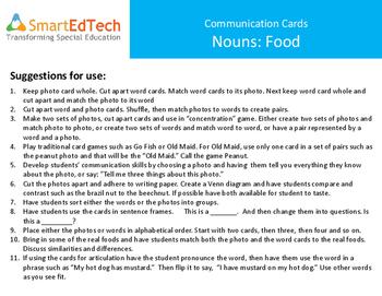 Nouns Food - SmartEdTech Communication Cards