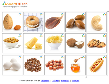 Nouns Food - SmartEdTech Communication Cards