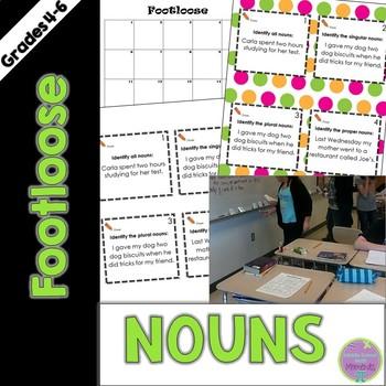 Nouns Task Cards - Footloose ELA Game